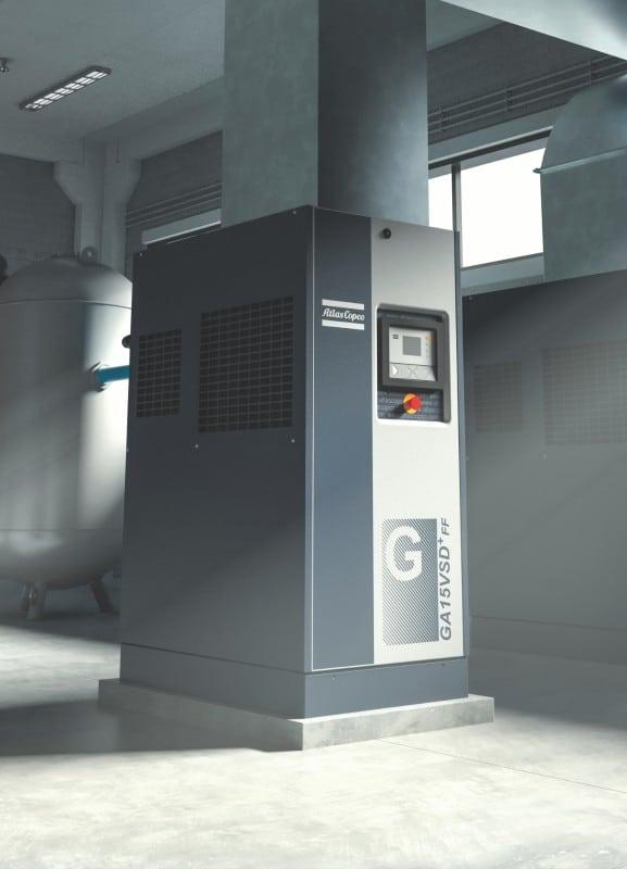 Oljesmurt frekvensstyrt kompressor
